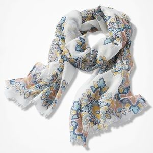 NWT Coldwater Creek Tile Mural Print Scarf
